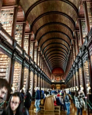 Admiring The Long Room (Trinity University Library)